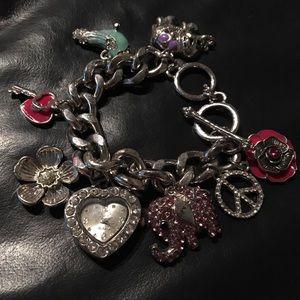 Trendy watch charm bracelet